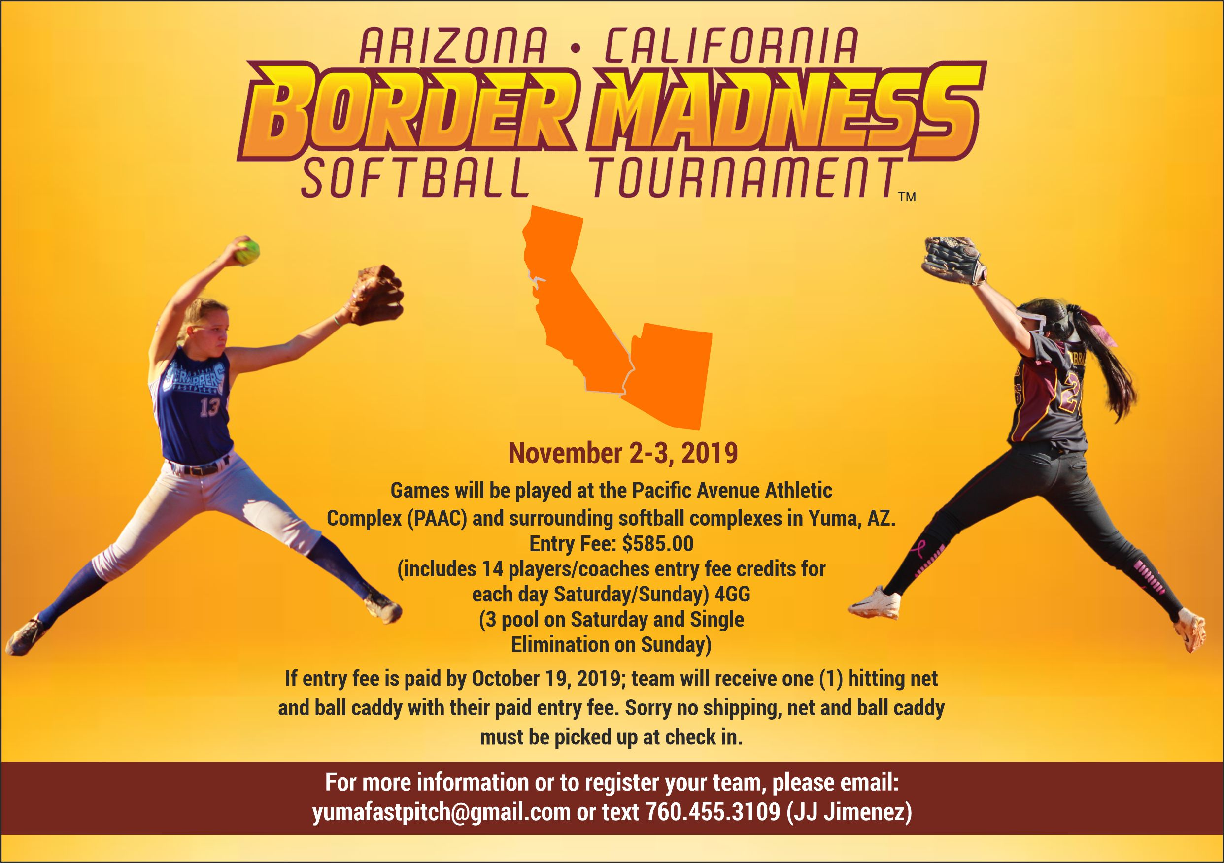 2019 AZ/CA Border Madness Fastpitch Tournament – November 2